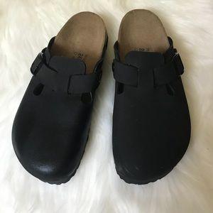 New Birkenstock Birkis Boston Clog Black